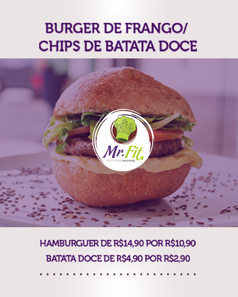 Burguer de Frango – Mr.Fit