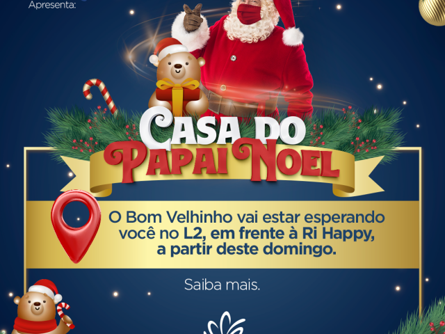 Casa do Papai Noel no Shopping Jardim Norte